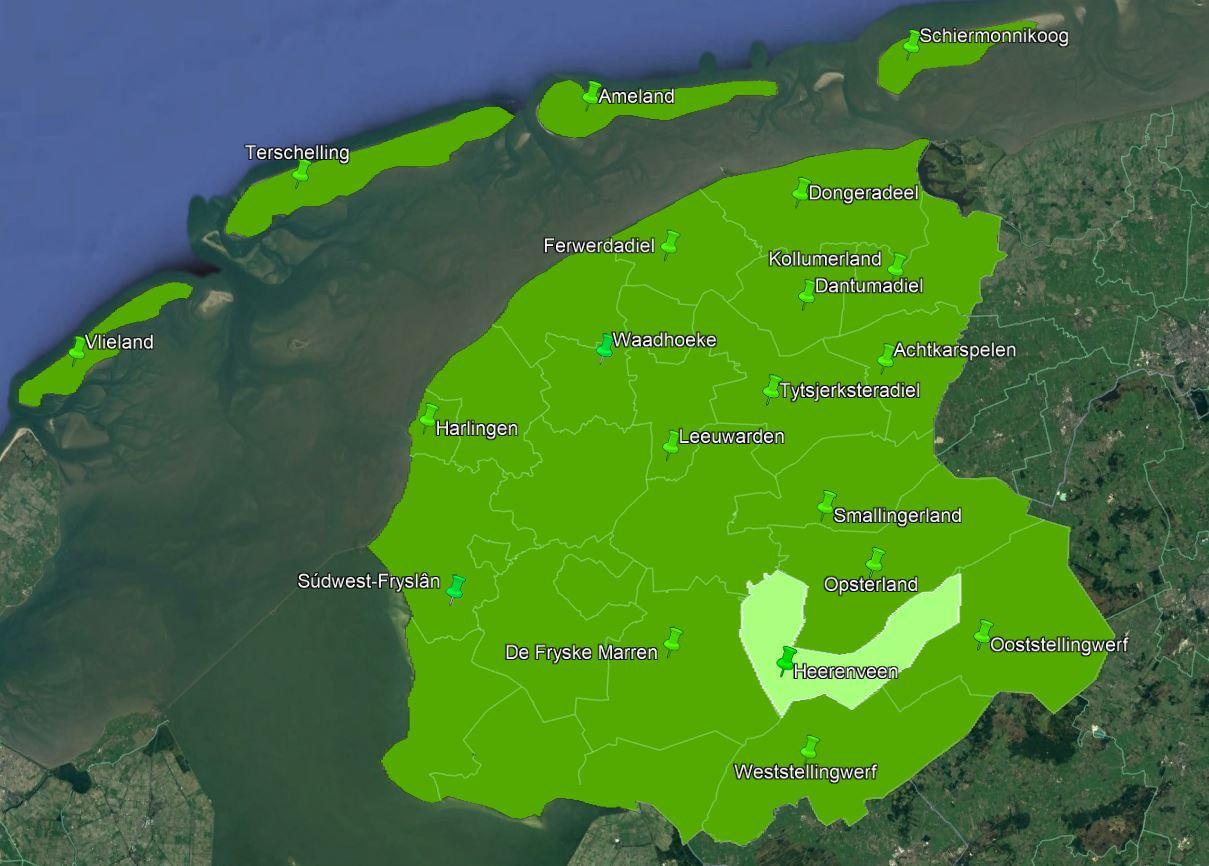 Deelnemende gemeenten in Fryslân 15:53:46